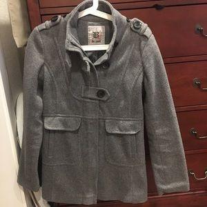 Gray Pea Coat Forever 21